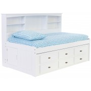 White Full Bookcase Daybed with 6-Drawers Save $150