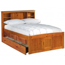 Honey Captains Full Bed with 3-Drawers and Trundle Save $130
