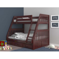 Merlot Twin-Full Mission Bunk Bed Save $70