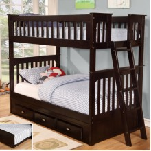 Espresso Twin-Twin Bunk Bed