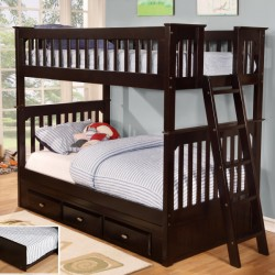 Espresso Twin-Twin Bunk Bed Save $130