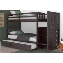Espresso Twin-Twin Mission Staircase Bunk Bed Save $100