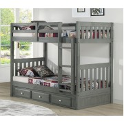 Charcoal Twin-Twin Mission Bunk Bed Save $150