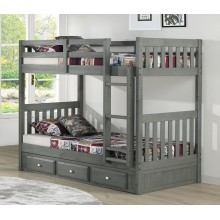 Charcoal Twin-Twin Mission Bunk Bed