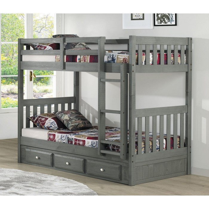 Charcoal Twin-Twin Mission Bunk Bed Save $70