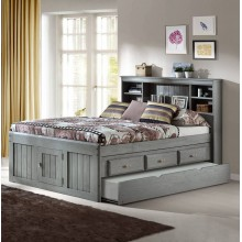 Charcoal Captains Full Bed with 3-Drawers and Trundle Save $150