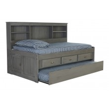 Charcoal Twin Bookcase Daybed with 3 Drawers and Trundle Save $120