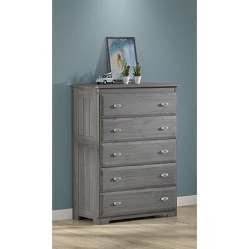 Charcoal 5-Drawer Chest