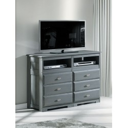 Charcoal 6-Drawer Entertainment Dresser