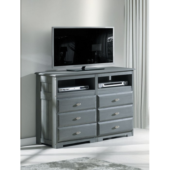 Charcoal 6-Drawer Entertainment Dresser Save $90