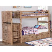 Sand Twin-Twin Staircase Bunk Bed
