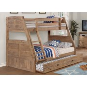 Sand Twin-Full Bunk Bed
