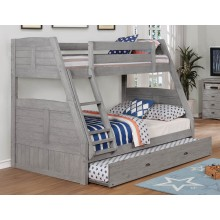 Gray Twin-Full Bunk Bed