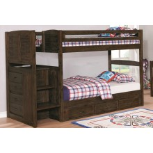 Chestnut Twin-Twin Staircase Bunk Bed