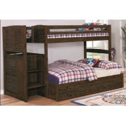 Chestnut Twin-Full Staircase Bunk Bed