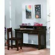 Chestnut Student Desk with Hutch