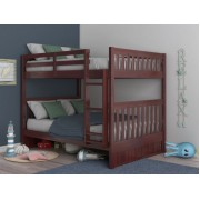 Merlot Full-Full Mission Bunk Bed Save $120