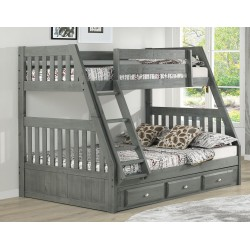 Charcoal Twin-Full Mission Bunk Bed