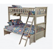 Driftwood Sailboat Twin-Full Bunk Bed