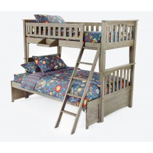 Brushed Driftwood Sailboat Twin-Full Bunk Bed Save $150