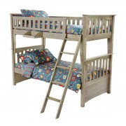 Brushed Driftwood Sailboat Twin-Twin Bunk Bed