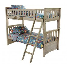 Brushed Driftwood Sailboat Twin-Twin Bunk Bed Save $110