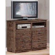 Chestnut 6-Drawer Entertainment Dresser