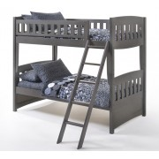 Cinnamon Twin-Twin Stonewash Gray Bunk Bed