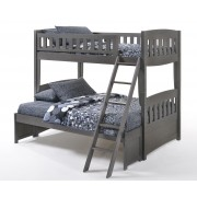 Cinnamon Twin-Full Gray Bunk Bed