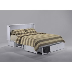 White Murphy Cabinet Bed - ADD TO CART FOR SPECIAL PRICING!