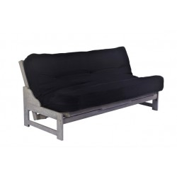 Full Eureka Futon Sofa in Driftwood