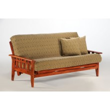 Full Kingston Futon Sofa in Cherry