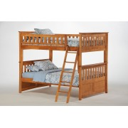 Ginger Full-Full Medium Oak Bunk Bed
