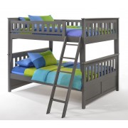 Ginger Full-Full Stonewash Gray Bunk Bed save $150