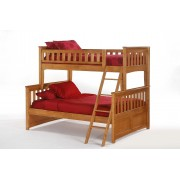 Ginger Twin-Full Medium Oak Bunk Bed Save $190