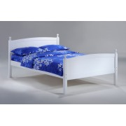 White Licorice Platform Bed
