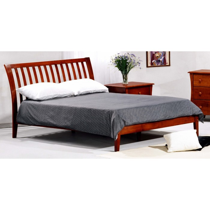 Cherry Nutmeg Platform Bed Save $100