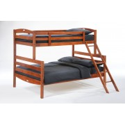 Cherry Twin-Full Sesame Bunk Bed