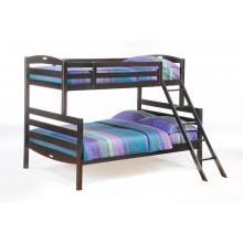 Chocolate Twin-Full Sesame  Bunk Bed