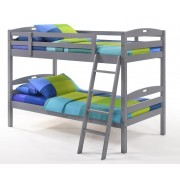 Gray Twin-Twin Sesame Bunk Bed