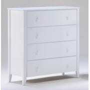 White Zest 4-Drawer Chest