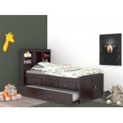 Espresso Captains Twin Bed with 3-Drawers and Trundle Save $130