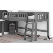 Charcoal Twin Low Loft Bed Save $80