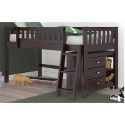 Espresso Twin Low Loft Bed Save $80