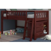 Merlot Twin Low Loft Bed Save $80