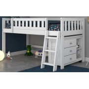 White Twin Low Loft Bed Save $80