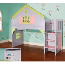 Doll House Twin Staircase Bed
