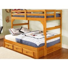 Honey Twin-Full Ranch Bunk Bed
