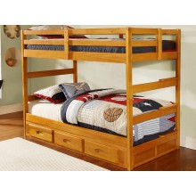 Honey Twin-Twin Ranch Bunk Bed