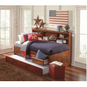Merlot Full Bookcase Daybed with 3-Drawers and Trundle